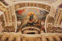 俄国正教大教堂寺庙内部 库存图片