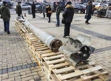 俄国武器的陈列在基辅 免版税库存图片