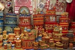 俄国民间艺术和工艺,阿尔汉格尔斯克州oblast对象  免版税图库摄影