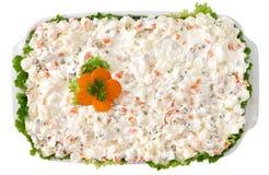 俄国沙拉,开胃菜 图库摄影