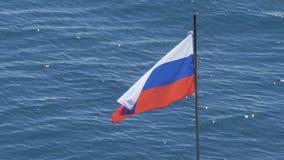 俄国沙文主义情绪在强光的背景中在水的 影视素材