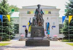 俄国沙皇彼得大帝雕象  免版税图库摄影