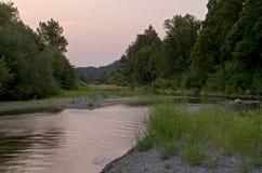 俄国河通过Healdsburg 图库摄影