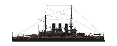 俄国海军巡洋舰Potemkin 皇族释放例证