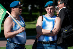 俄国海军陆战队员 免版税库存照片