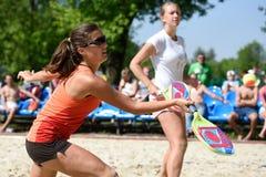 俄国海滩网球冠军2015年 免版税库存照片