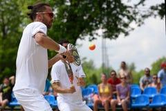 俄国海滩网球冠军2015年 库存图片