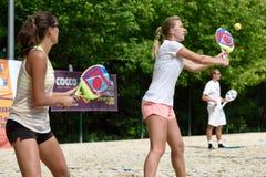 俄国海滩网球冠军2015年 免版税库存图片