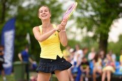 俄国海滩网球冠军2015年 图库摄影