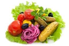 俄国混杂的开胃小菜 库存图片