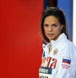 俄国游泳者EFIMOVA尤利娅鲁斯 免版税库存图片