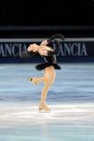 俄国溜冰者Irina Slutskaya 库存照片