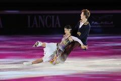 俄国溜冰者Tatiana Totmianina格言Mari 库存照片