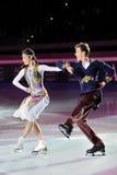 俄国溜冰者Tatiana Totmianina格言Mari 库存图片