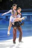 俄国溜冰者Tatiana Totmianina格言Mari 免版税库存图片