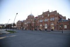 俄国火车站喀山 免版税库存图片