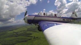俄国特技飞行飞机牦牛52折叠底盘 股票录像