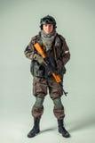俄国特种部队士兵 免版税图库摄影
