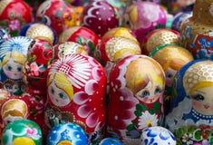俄国玩偶matryoshka家庭。 免版税库存图片