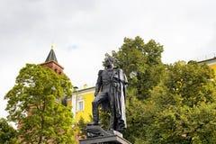 俄国皇帝雕象底视图  免版税库存图片