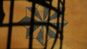 俄国监狱标志木背景笼子遮蔽没人hd英尺长度 股票录像