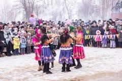 俄国看见的冬天 免版税库存照片