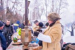 俄国看见的冬天 免版税库存图片