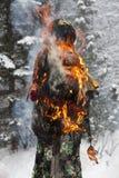 俄国看见的冬天 免版税图库摄影