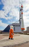 俄国空间运输火箭 免版税图库摄影