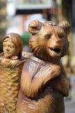 俄国童话的英雄从树的 免版税库存照片