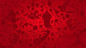 俄国红色墙纸,传染媒介例证 皇族释放例证
