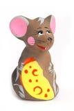 俄国纪念品黏土老鼠 免版税库存图片