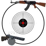俄国自动武器 免版税图库摄影