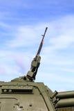 俄国自走短程高射炮的塔有军备的 免版税图库摄影
