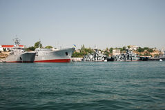 俄国舰队在克里米亚 库存照片