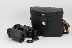 俄国苏联双筒望远镜 免版税库存照片