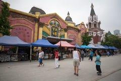 俄国街道在大连,中国 库存照片