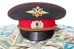 俄国警察盖帽 免版税库存照片