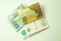 俄国货币 免版税图库摄影