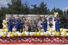 俄国轻骑兵的音乐会 免版税库存图片