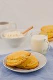 俄国酸奶干酪饼 库存照片