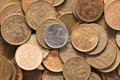 俄国金钱。 库存照片
