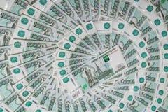 俄国钞票背景 库存图片