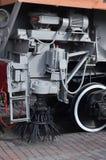 俄国铁路技术支持trai的轮子的照片 库存照片
