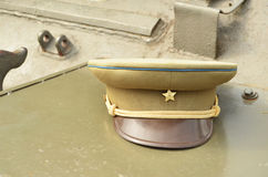 俄国陆军将校帽子 免版税库存照片