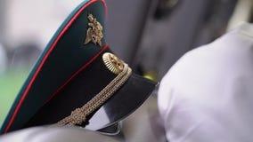 俄国陆军将校的盖帽 影视素材
