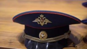 俄国陆军将校的盖帽 股票视频