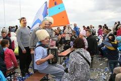 俄国音乐流行音乐民间小组合奏Malinovskaya帮会表现  免版税库存图片