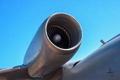 俄国飞机的喷气机引擎是72 库存照片