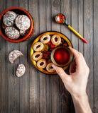 俄国食物概念 免版税库存图片
